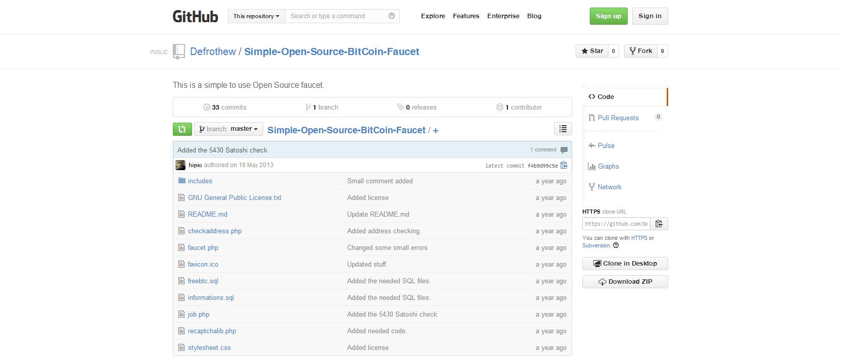 Bitcoin faucet list script - Bitcoin show all addresses
